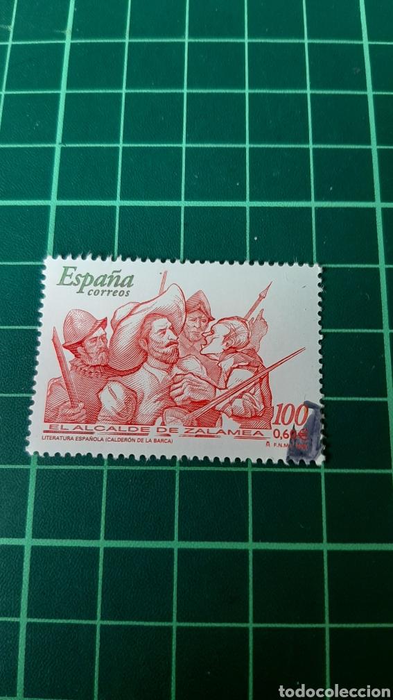 USADO LUJO EDIFIL 3774 LITERATURA ESPAÑOLA EL ALCALDE DE ZALAMEA MILITARES ESPAÑA 2000 (Sellos - España - Juan Carlos I - Desde 2.000 - Usados)