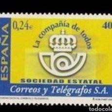Sellos: ESPAÑA N°3815 MNH** CORREOS Y TELÉGRAFOS 2001 (FOTOGRAFÍA ESTÁNDAR). Lote 289701388