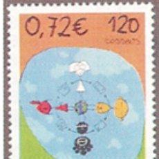 Selos: ESPAÑA N°3820 MNH** DÍA MUNDIAL DEL CORREO 2001 (FOTOGRAFÍA ESTÁNDAR). Lote 289701428