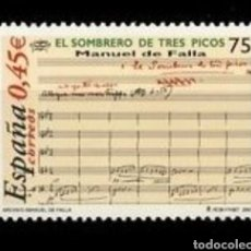 Sellos: ESPAÑA N°3838 MNH** MANUEL DE FALLA 2001 (FOTOGRAFÍA ESTÁNDAR). Lote 289701493