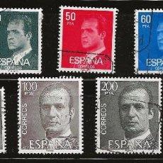 Sellos: ESPAÑA 1981 (2599-2607) DON JUAN CARLOS I (USADO). Lote 289709483