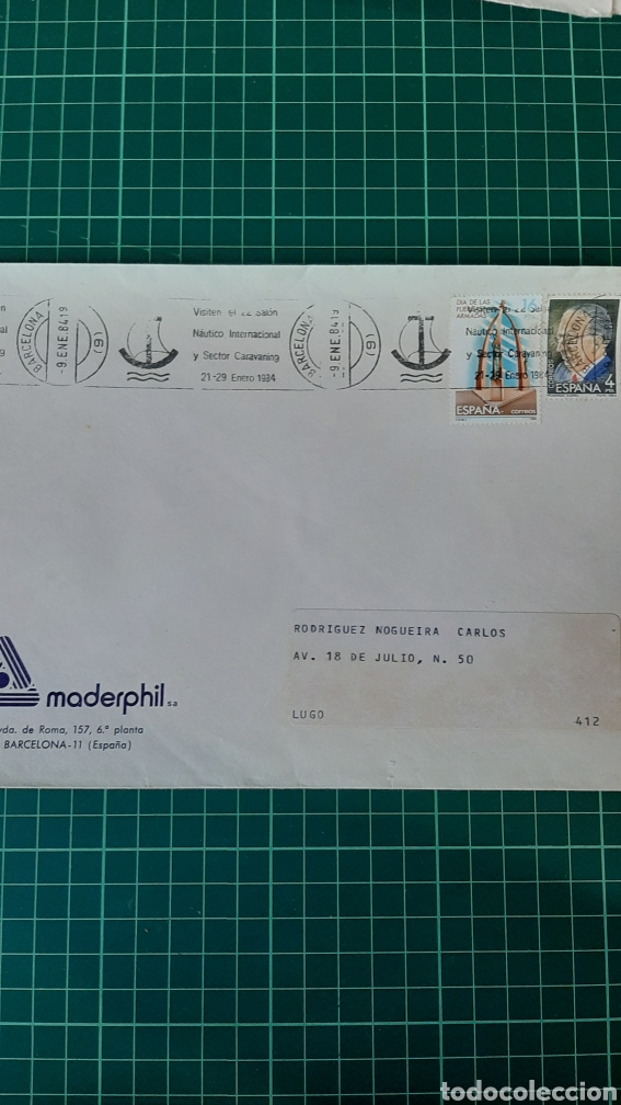 BARCOS SALÓN INTERNACIONAL NÁUTICO Y CARAVANING 1984 (Sellos - España - Juan Carlos I - Desde 1.975 a 1.985 - Cartas)