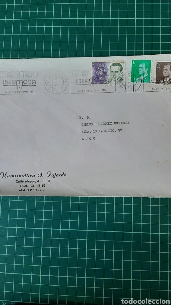 MADRID 1984 MATASELLO RODILLO IBERMODA (Sellos - España - Juan Carlos I - Desde 1.975 a 1.985 - Cartas)