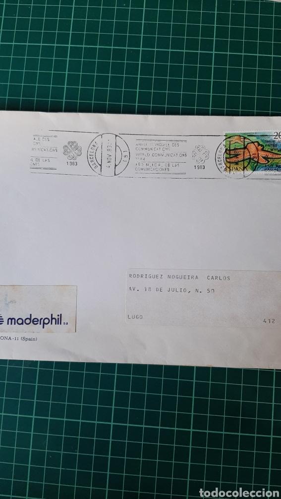 BARCELONA 1983 AÑO COMUNICACIONES MATASELLO RODILLO (Sellos - España - Juan Carlos I - Desde 1.975 a 1.985 - Cartas)
