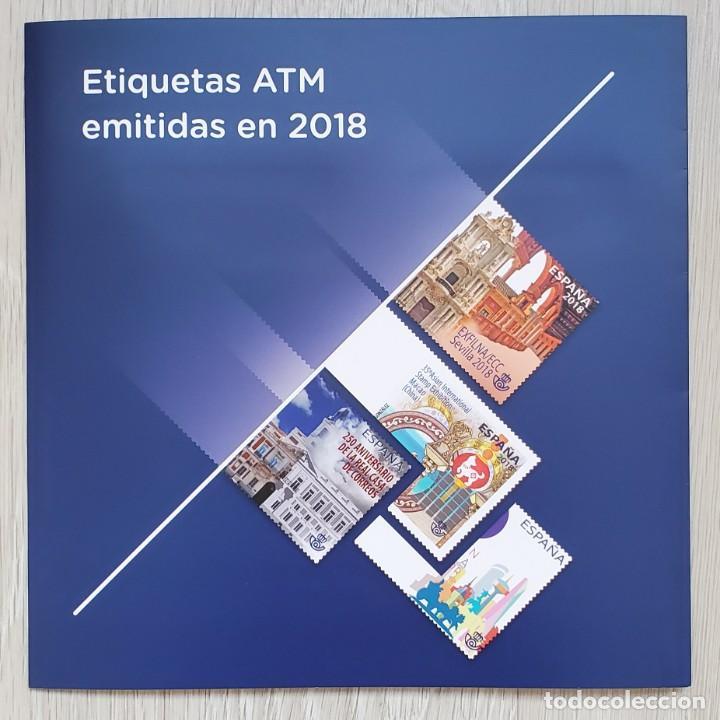 CARPETA OFICIAL CORREOS ATM 2018 ESPAÑA CON FILOESTUCHES. ATMS, ATM'S, SVV (Sellos - España - Juan Carlos I - Desde 2.000 - Nuevos)