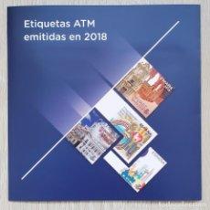 Sellos: CARPETA OFICIAL CORREOS ATM 2018 ESPAÑA CON FILOESTUCHES. ATMS, ATM'S, SVV. Lote 290135028