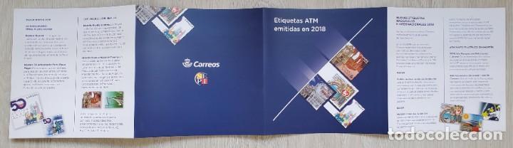 Sellos: Carpeta oficial Correos ATM 2018 España con filoestuches. ATMs, ATMs, SVV - Foto 3 - 290135028