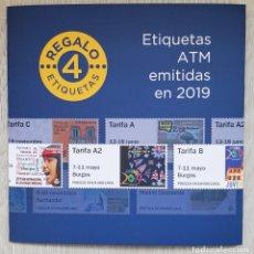 Sellos: CARPETA OFICIAL CORREOS ATM 2019 ESPAÑA CON FILOESTUCHES. ATMS, ATM'S, SVV SPAIN SPANIEN ESPAGNA. Lote 290135513