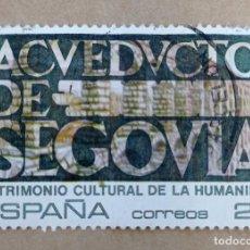 Sellos: SELLO CORREOS ESPAÑA 1989. ACUEDUCTO DE SEGOVIA. USADO. Lote 290170018