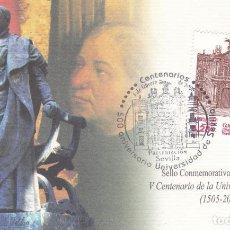 Sellos: TARJETA INVITACION A LA PRESENTACION DEL SELLO UNIVERSIDAD DE SEVILLA CON MATASELLOS.. Lote 290562433