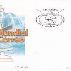 Sellos: SOBRE CON MATASELLOS PRIMER DIA DE DIA MUNDIAL DEL CORREO Nº 3820. Lote 290563083