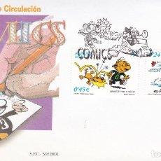 Sellos: SOBRE CON MATASELLOS PRIMER DIA DE COMICS Nº 3839/40. Lote 290563338