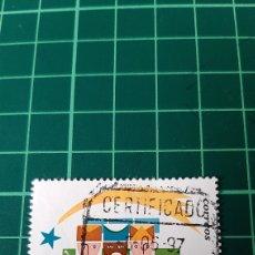 Sellos: SANTIAGO DE COMPOSTELA MATASELLO CERTIFICADO 1993 NAVIDAD ESPAÑA EDIFIL 2866 USADO LUJO. Lote 291576233