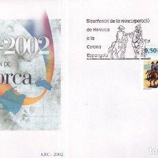 Sellos: SELLOS ESPAÑA OFERTA SOBRE DEL PRIMER DÍA AÑO 2002 SERIE COMPLETA. Lote 292234993