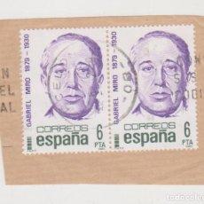 Sellos: GABRIEL MIRÓ - 1879-1930 - CORREOS - ESPAÑA - 6 PTA - PERFECTO ESTADO. Lote 292554643