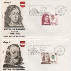 Sellos: SERIE COMPLETA DE LOS AUSTRIA EN CINCO SOBRES PRIMER DÍA. Lote 293316413