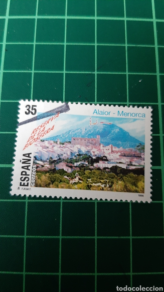 ALAIOR MENORCA PAUSAJE RESERVA BIOFERA NATURALEZA EDIFIL 3604 USADO LUJO ESPAÑA 1998 (Sellos - España - Juan Carlos I - Desde 1.986 a 1.999 - Usados)