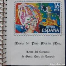 Sellos: DOCUMENTO FILATELICO./MARIA DEL PINO MARTIN MESA CON AUTOGRAFO. Lote 293883128