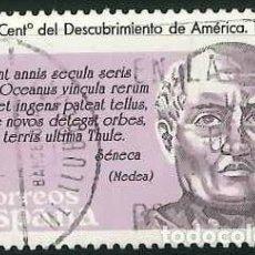 Sellos: ESPAÑA - AÑO 1986 - EDIFIL 2861 - Vº CENTENARIO DEL DESCUBRIMIENTO DE AMÉRICA - USADO. Lote 293890763