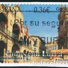 Sellos: ESPAÑA - AÑO 2012 - EDIFIL 4693 - TODOS CON LORCA - USADO. Lote 293892373