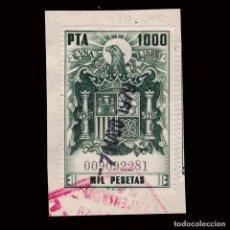 Sellos: ESPAÑA.FISCAL.POLIZA.1976.1000P.USADO.ALEMANY.748. Lote 293940383