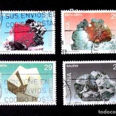 Sellos: 3283-3286, SERIE USADA, FOTO ESTÁNDAR. MINERALES.. Lote 294153013