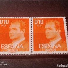 Sellos: PAREJA 1977 EDIFIL 2386 BÁSICA JUAN CARLOS I. NUEVO. Lote 294835283