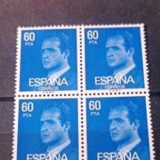 Sellos: BLOQUE DE 4 1981 EDIFIL 2602 BÁSICA JUAN CARLOS I. NUEVO. Lote 294838213