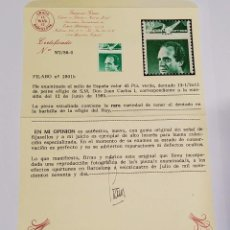 Sellos: SELLO ESPAÑA DE 1985.VARIEDAD CATALOGO FILABO 2801B.NUEVO SIN FIJASELLOS.CON CERTIFICADO GRAUS. Lote 294945528