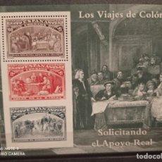 Sellos: EDIFIL 3205 COLÓN Y EL DESCUBRIMIENTO 1992 (HOJITA)... Lote 294955518