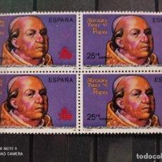 Sellos: BLOQUE DE 4 EDIFIL 3138. V CENT. DEL DESCUBRIMIENTO DE AMÉRICA - ALEJANDRO VI. (1991). Lote 294959208