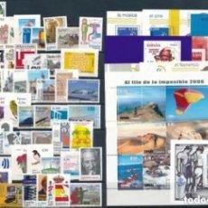 Sellos: SELLOS ESPAÑA NUEVOS AÑO 2006 COMPLETO BAJO FACIAL CON HOJAS BLOQUE Y SIN FIJASELLOS. Lote 295046568