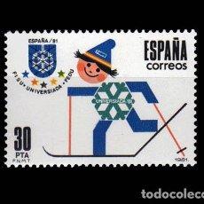 Sellos: EDIFIL 2608 NUEVO SIN CHARNELA MNH ** 1981 JUEGOS MUNDIALES UNIVERSITARIOS DE INVIERNO. Lote 295280008
