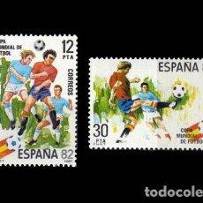 Sellos: EDIFIL 2613-2614 NUEVOS SIN CHARNELA MNH ** 1981 COPA MUNDIAL DE FÚTBOL, ESPAÑA'82. Lote 295280033