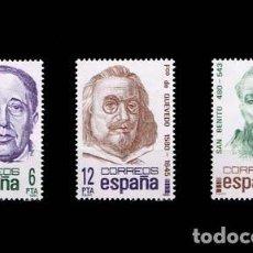 Sellos: EDIFIL 2618-2620 NUEVOS SIN CHARNELA MNH ** 1981 CENTENARIOS. GABRIEL MIRÓ, QUEVEDO Y SAN BENITO. Lote 295280038