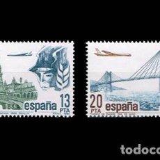 Sellos: EDIFIL 2635-2636 NUEVOS SIN CHARNELA MNH ** 1981 CORREO AÉREO. Lote 295280078