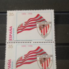Sellos: 1998. EDIFIL 3530 CENTENARIO ATHLETIC CLUB DE BILBAO. FÚTBOL.. Lote 295503048
