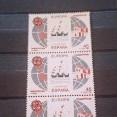 Sellos: ESPAÑA EN TIRA DE 3 SELLOS 1992. EDIFIL 3196-97 3197. EUROPA. NUEVO. Lote 295566903