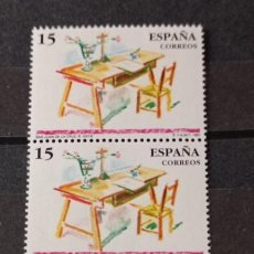 Sellos: ESPAÑA EN TIRA DE 3 SELLOS AÑO 1991 - 3118 CENTENARIOS: SAN JUAN DE LA CRUZ,. Lote 295627388