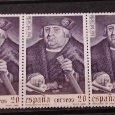 Sellos: ESPAÑA EN TIRA DE 3 SELLOS 1988 EDIFIL 2947 SELLO DIA DEL SELLO FRANCISCO DE TASSIS. Lote 295628913