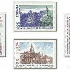 Sellos: 1991. ESPAÑA. EDIFIL 3146/49**MNH. PATRIMONIO MUNDIAL DE LA HUMANIDAD.. Lote 295690353