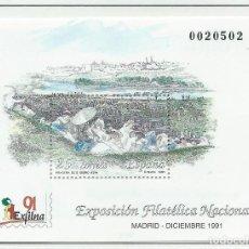 Sellos: 1991. ESPAÑA. HOJITA EDIFIL 3145**MNH. EXPOSICIÓN FILATÉLICA NACIONAL. EXFILNA'91. MADRID. GOYA.. Lote 295690713