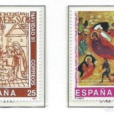 Sellos: 1991. ESPAÑA. EDIFIL 3142/43**MNH. NAVIDAD. CHRISTMAS.. Lote 295690943