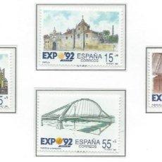 Sellos: 1991. ESPAÑA. EDIFIL 3100/3103**MNH. EXPOSICIÓN UNIVERSAL SEVILLA 1992.. Lote 295698648