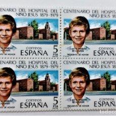 Sellos: SELLOS ESPAÑA 1979 SERIE CENT. HOSPITAL NIÑO JESUS - EDIFIL 2548 (COMPLETA) NUEVOS EN BLOQUE DE 4. Lote 295868248