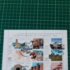 Sellos: EXFILMA 2021 LUGO MATASELLO EDIFIL 3843/54 PATRIMONIO HUMANIDAD 2001 USADO. Lote 295895563