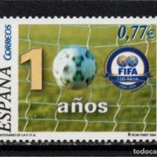 Sellos: ESPAÑA 4080** - AÑO 2004 - CENTENARIO DE LA FEDERACION INTERNACIONAL DE FUTBOL. Lote 296711908