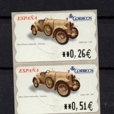 Sellos: ESPAÑA ATM** - AÑO 2003 -AUTOMOVILES - AMILCAR 1927. Lote 296720483