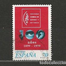 Sellos: ESPAÑA. Nº 3652. AÑO 1999. CENTENARIOS. USADO.. Lote 296897748