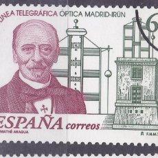 Sellos: MM35- ANIVERSARIO LINEA TELEGRAFICA MADRID- IRÚN VARIEDAD MUESTRA ** SIN FIJASELLOS . LUJO. Lote 296918523